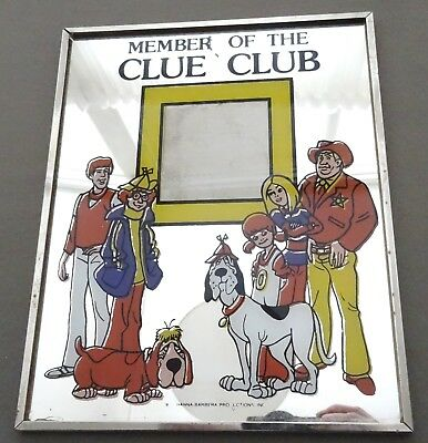 vintage 1970's Kings Island Hanna-Barbera RARE Clue Club Picture Frame 8x10