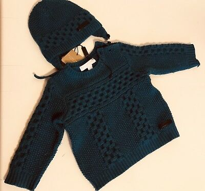 dec0d4e263d BURBERRY BABY 9MONTH Cashmere Wool Jumper And Hat - £70.00