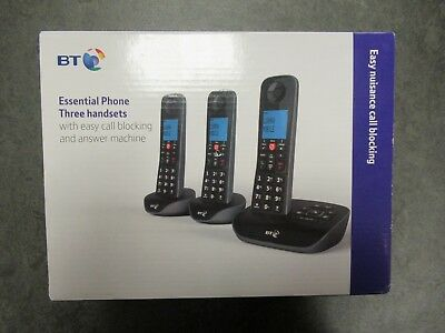BT Essential Cordless Telephone & Answering Machine - Triple