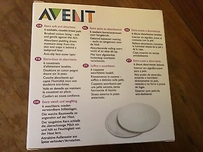 Avent 6 Washable Breast Pads BRAND NEW IN BOX