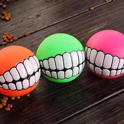 Pet Dog Sound Ball Puppy Squeaky Chew Teeth Toy Squeaker Ball Funny Play Toys I
