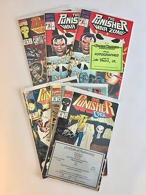 Marvel The Punisher lot of 6, #1 (2 copies), #33, #60, #61, #62, some signed