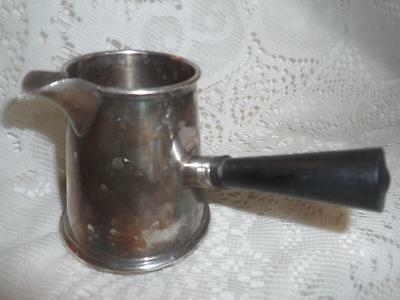 Antique Sheffield EPC SilverPlate w/Wood Handle Brandy Warmer Butter/Sauce Pan