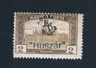 Hungary Feldpost In Adriatic Sea For Submarine Huszar - 1 Mint Stamp Signed