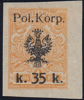 1918 POLAND on Russia stamp CIVIL WAR no gum