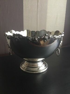 Antiqu Silver On Copper Punch Bowl, Makers Mark