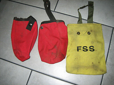 Lot of 3 Water Bottle Canteen Pouches Wildland Fire Hunting Hiking SAR Fishing