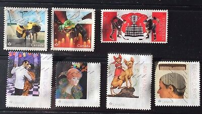 CANADA NEW y2018 SC# MEMORIAL CUP BEES GREAT ILLUSTRATORS  SET OF 7 USED