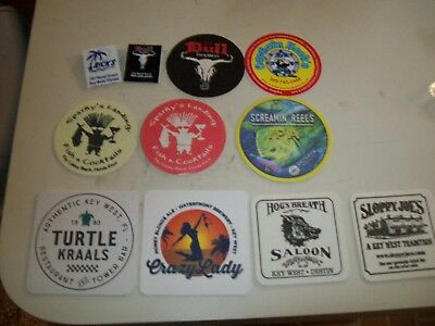 Group of Beer & Bar Advertising COASTERS AND Items from FLORIDA Keys & Key WEST