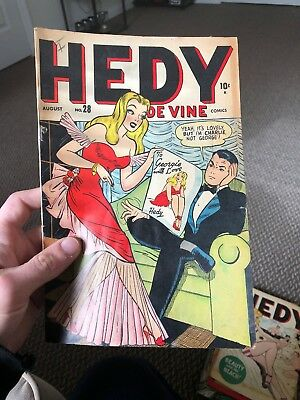 Hedy Devine 28 (1948)   CLASSIC GOOD GIRL ART!!!    CLASSIC COVER!!!  COMPLETE!!