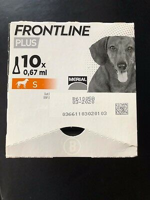 Frontline Plus SMALL DOGS -18 Month Supply*, New, Exp 6/2019(x8), 3/2020(x10)