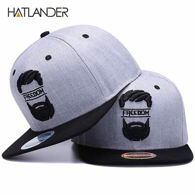 Original snapback cap men flat brim bone baseball caps embroidery