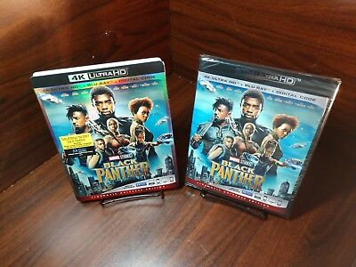 Black Panther (4K UHD+Blu-ray+HD Digital)Slipcover-NEW-Free Shipping with Track