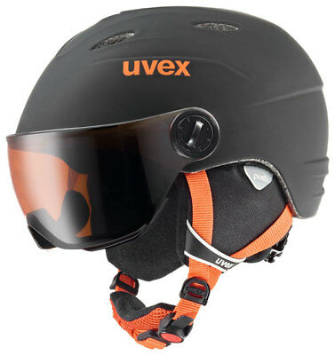 UVEX junior VISOR Pro Ski - Helm  Fb. black - orange  mat Gr. 54 - 56 cm :NEU: