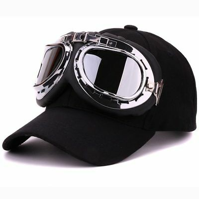 Fancy cotton 6 panels ski goggles baseball cap with polite glasses sports caps