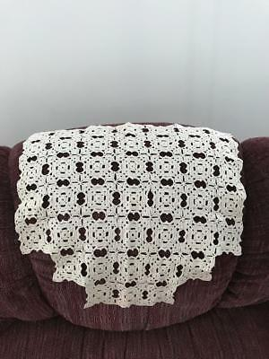 Vintaage hand-crocheted chairback cover