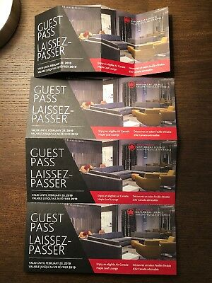 Air Canada Maple Leaf Lounge Pass x 4