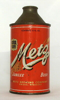 Metz Jubilee Beer 12 oz. Cone Top Beer Can-Omaha, Nebraska