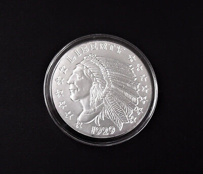 2 oz Incuse Indian .999 Silver Round