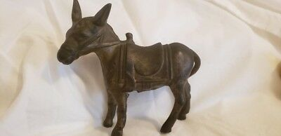 Antique Collectible Cast Iron Still Bank Donkey 1910-1934