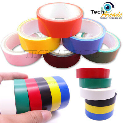 New 1//6 Pack Rolls PVC Insulation Assorted Colour Flame Retardant Tape 8m