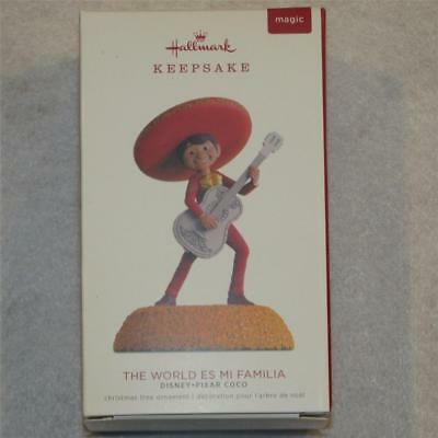 HALLMARK 2018 ORNAMENT DISNEY PIXAR COCO THE WORLD ES MI FAMILIA NEW  Music