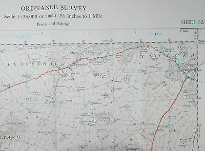 1947 old OS Ordnance Survey 1:25000 First Series Prov map TM 36 Saxmundham 62/36