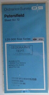 1958 old vintage OS Ordnance Survey 1:25000 First Series map SU 72 Petersfield