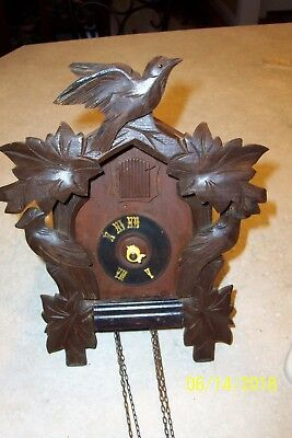 Parts-Vintage GERMANY HECO 1-day Cuckoo Clock, Imported by Henry Coehler Co, Inc