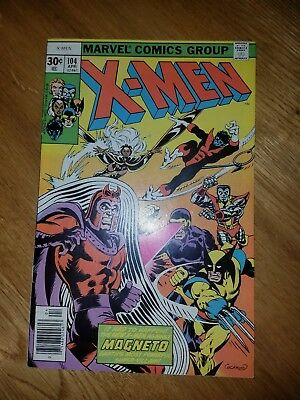 Uncanny X-Men (1st Series) #104 High Grade Magneto Cover Wolverine Storm Cyclops