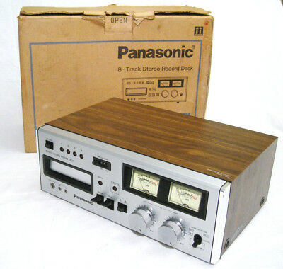 Panasonic RS-808 Stereo 8 Track Tape Deck w/ Box. (FULLY SERVICED + NEW BELTS)