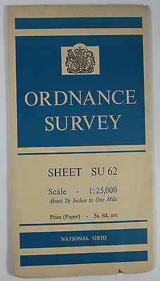 1959 old vintage OS Ordnance Survey 1:25000 First Series map SU 62 West Meon