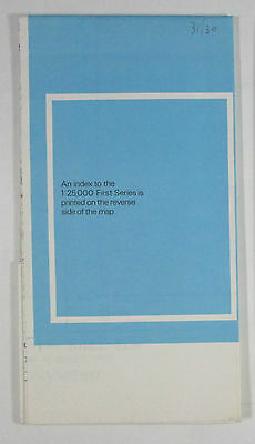 1958 old vintage OS Ordnance Survey 1:25000 First Series Map ST 30 Chard