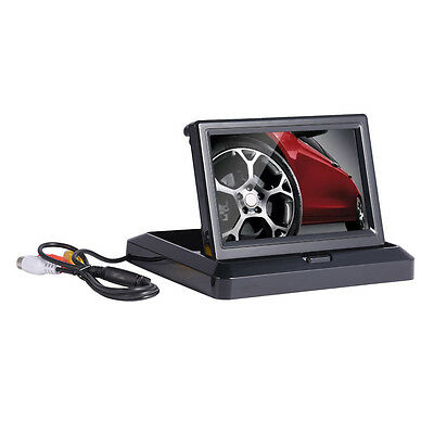 5 Inch TFT LCD Foldable Car Reverse Rearview Monitor For Backup Camera DVD VCR