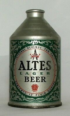Altes Lager Beer 12 oz. Crowntainer Cone Top Beer Can-Tivoli Brewing-Detroit, MI
