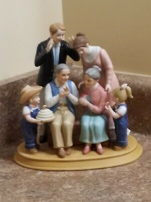 Home Interiors Denim Days 50th Anniversary Collection Porcelain Figurine w/Tag