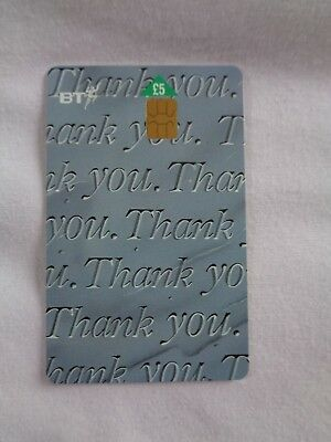 "BT Phonecard - British Telecom Smart Project ""Thank You"" - £5 Phone Card"
