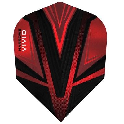 Harrows Vivid Standard Shape Flights  Red