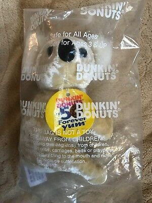 """Dunkin Donuts Coolatta Plush Bear - """"Goldie"""" New in Package"""