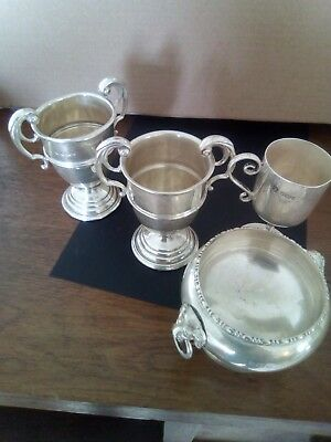 Sterling Silver Salt cellar and cups over 200 grams Scrap or not