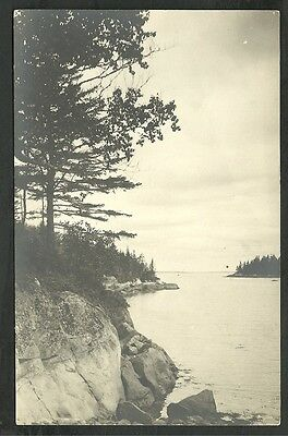 A Protected Harbor On The Rugged Maine Coast Vintage Divided Back Postcard