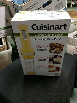 Cuisinart Electric Cookie Press yellow CCP10y