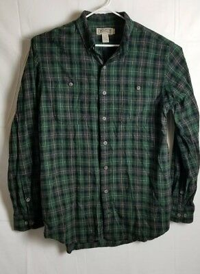 DULUTH TRADING CO Men's ' Trim Fit Blue Flannel Shirt Small Plaid 64507