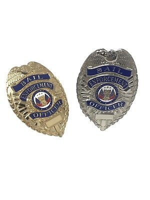 Bail Bond Enforcement Officer Bondsman Shield Fugitive Bounty Hunter  Badge