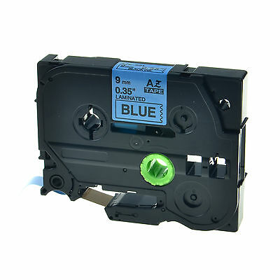 """1PK TZ-521 TZe-521 Black on Blue Label Tape For Brother P-Touch PT-1650 9mm 3/8"""""""