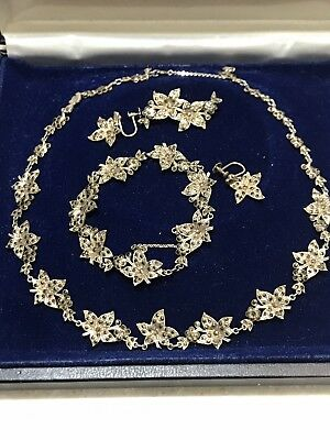 1930's  ? Beautiful Solid Sterling Silver 925 (fine) Marcasite Jewellery Set