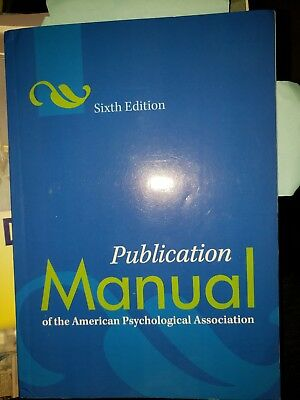 Publication Manual of the American Psychological Association - Paperback 6th Edn