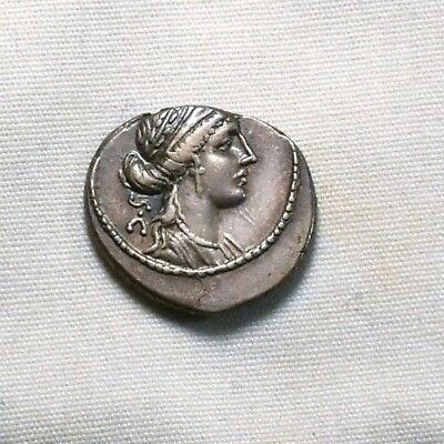 Ancient Rome, P Licinius Crassus, Silver Denarius, 55BC, Gallic Cavalry