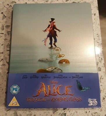 Alice Through the Looking Glass - Limited Edition Steelbook (Blu-ray 2D/3D)