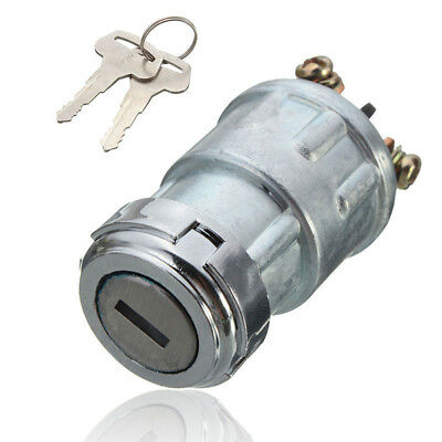 Universal Replacement Ignition Switch Lock Cylinder with 2 Keys for Auto Car New
